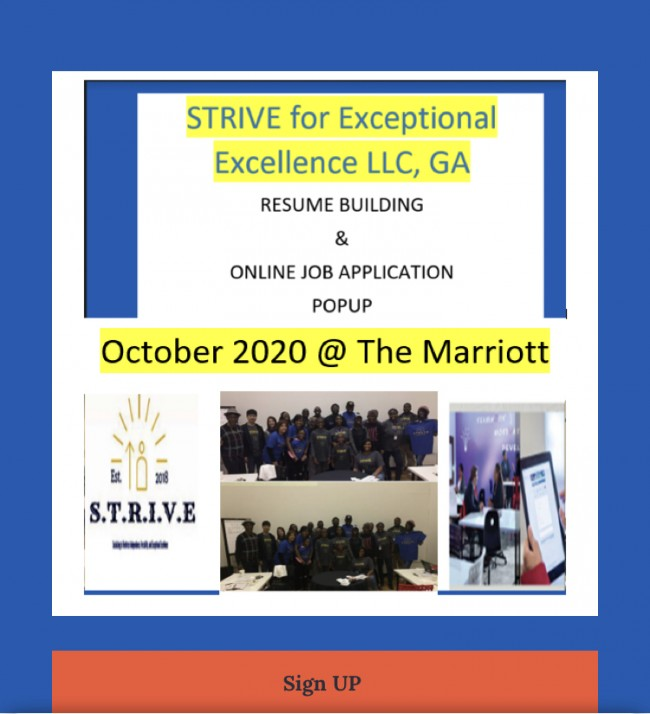 STRIVE For Exceptional Excellence