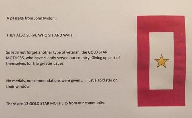 Remembering Our Gold Star Mothers