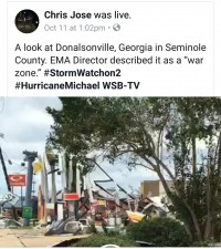 Support To Victims Of Hurricane Michael